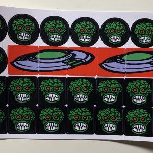 Pinball Machine Drop Target Stickers